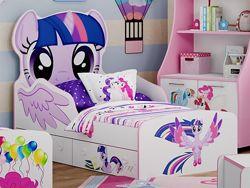 Детская кровать Литл Пони 0.801.60 м - В наличии