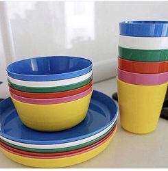 Полюбившаяся всеми детская пластиковая посуда ИКЕА  . В наличии .