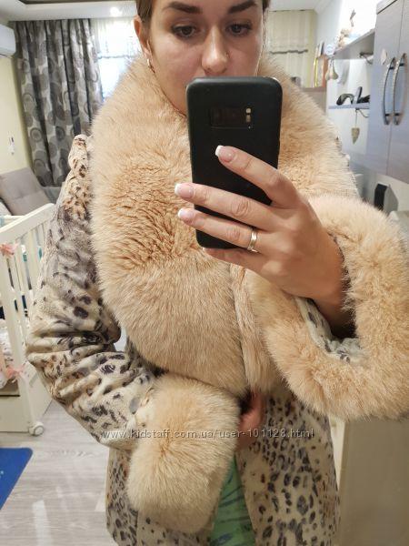 Продублериненное очень теплое пальто  46-48 рр