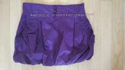 Модная фиолетово малиновая юбка Gatti