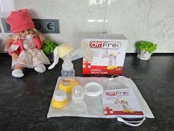 Ручной механический молокоотсос Dr. Frei упаковка накладок в подарок