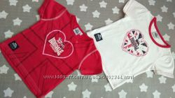 Набор из 2-х футболочек для девочки. Размер 3-4 года