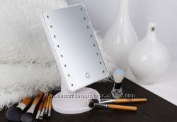Зеркало с подсветкой для студии, комнаты или ванной белое