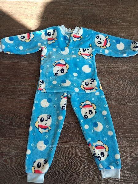 Теплая пижама на 4-6 лет