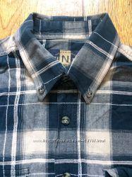 мужская рубашка 100 хлопок р. М-L состояние новой вещи