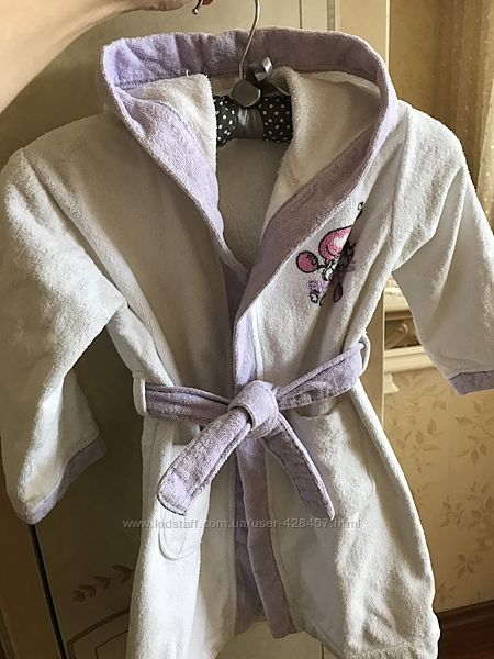 Банный халатик для девочки Chicco