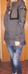 женская стильная рубашка туника  RAW Рав