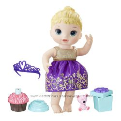 Baby Alive Кукла пупс праздник день рождение блондинка Cupcake Birthday