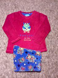 Яркая фирменная пушистая пижама домашний костюм, 5-7 лет