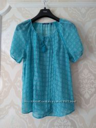 Размер 12, 12-14 Новая нежная и красивая фирменная шифоновая блузка блуза