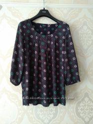 Размер 16 Красивая фирменная натуральная блузка блуза из вискозы