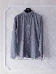 Размер ML Стильная фирменная хлопковая  мужская рубашка