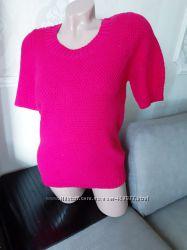 Размер 8 Новая яркая фирменная вязананая хлопковая футболка