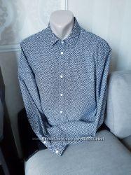 Размер М Шикарная фирменная хлопковая мужская рубашка
