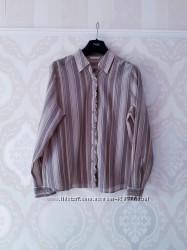 Размер L  Красивая фирменная нарядная хлопковая рубашка