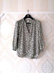Размер S Нежная фирменная натуральная кофточка блузка