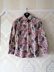 Размер S Яркая модная фирменная хлопковая рубашка