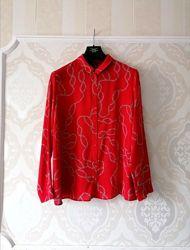Размер 16 Новая яркая фирменная натуральная рубашка