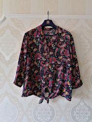 Размер L Новая яркая фирменная натуральная рубашка блузка