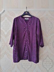 Размер L Яркая фирменная натуральная рубашка блузка