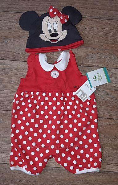 Disney Ромпер и шапочка с Мини Маус