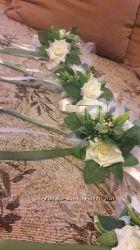 цветы на ручки свадебной машины