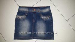 Джинсовая юбка Gloria Jeans на девочку 9-11 лет