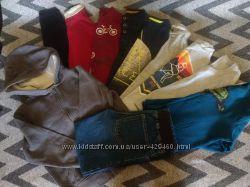 Регланы, кофты, джинсы на 4-6 лет