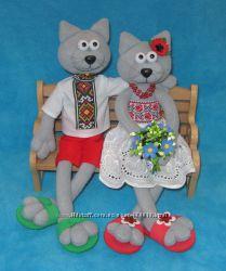 Необычный подарок - авторская игрушка - сувенир  Парочка на лавочке