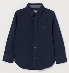 Рубашки темно-синие H&M