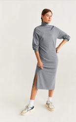 Платье Свитер манго рЛ серое и чёрное