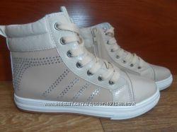Стильные деми ботинки-хайтопы наличие все рр. 36-38