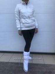 Белая тёплая куртка Adidas оригинал
