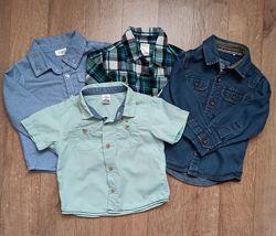 Рубашки на маленького модника 12-18 мес
