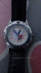 Часы наручные для мальчика с тачкой машинкой на секундной стрелке