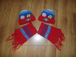 Комплекты теплые шапки с шарфиками
