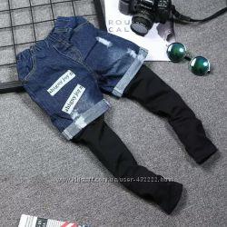 Суперстильные джинсовые шорты, унисекс 90-130см