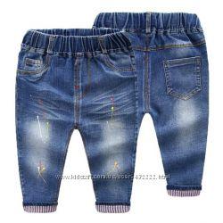 Модные яркие джинсы, рост 80-120см
