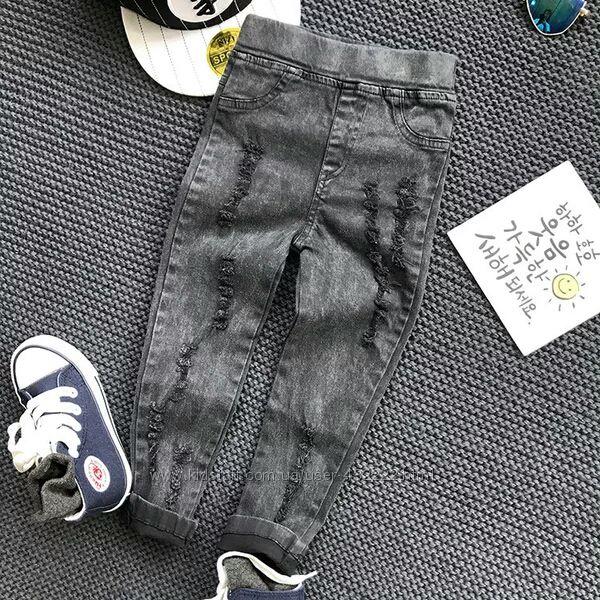 Мега модные рваные джегинсы 90-110см