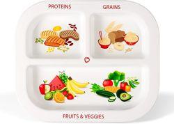 Порционные и секционные тарелочки для детей и взрослых