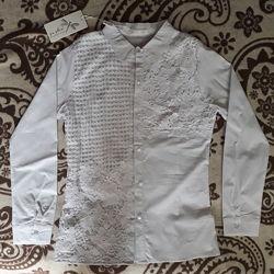 Блузка блуза новая с биркой белая Sasha рост 155-160