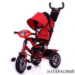 Велосипед трехколесный детский Turbo trike Турбо 3115 фара, надувные колёса