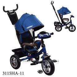 Велосипед детский для мальчика Турбо 3115 надувные колёса, фара