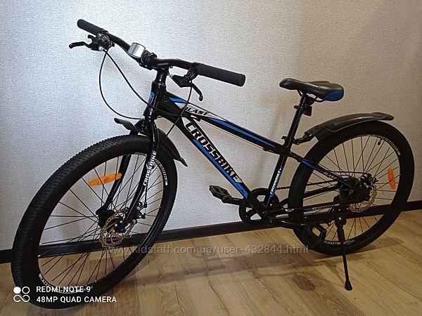 Велосипед подростковый Cross Blast 26 колёса и 13 рама сине-чёрный