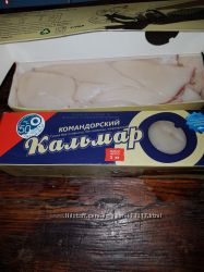 Кальмар филе мороженый тушка без плавника, без кожицы 1 кг