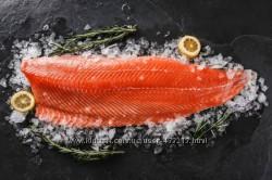 Филе форели охлажденное 1. 8-2 кг Норвегия