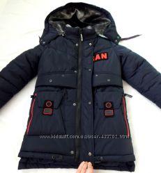Теплая зимняя куртка на меху, 6-7 лет, курточка, парка, пальто, пуховик