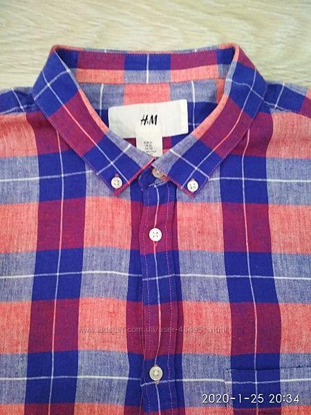 Мужская рубашка H&M, размер XL, отличное состояние