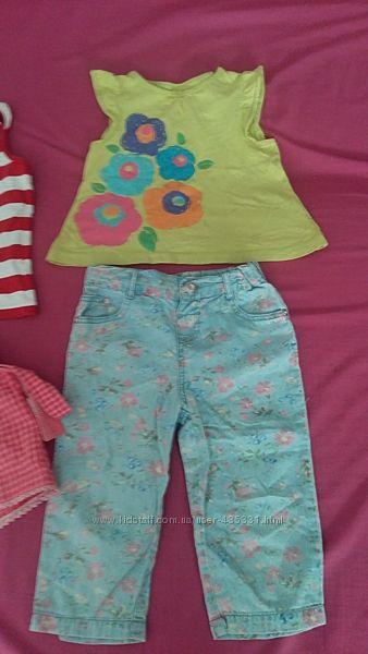 Летние комплекты одежды для девочки 2-3 годаЗамеры и описание