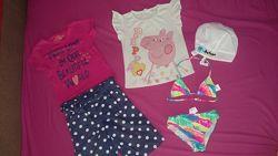 Летние вещи для девочки 4-5 лет Замеры и описание